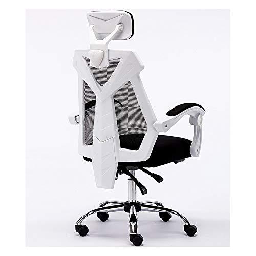 GXYAS Computerstuhl, Büro Computer Drehstuhl, Home Drehstuhl Liege, Ergonomischer Computer-Bürostuhl, Heimspielstuhl Rückenlehnen-Drehstuhl Schwarz mit Fußstütze