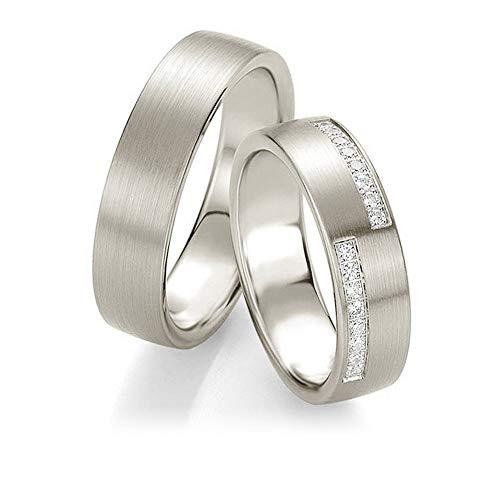 CORE by Schumann Design Trauringe/Eheringe aus 950 Platin mit echten Diamanten GRATIS Gravur 19025013