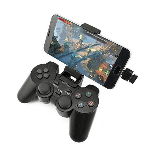 Aubess Manette de jeu sans fil pour smartphones Android + Windows, Samsung, PC, PS3, TV Box Type-c Noir