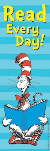 Eureka Back to School Dr. Seuss Cat in The Hat 'Read Every Day' Bookmarks for Kids 36pc, 2'' W x 6'' H