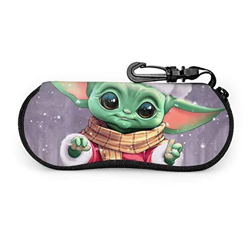 Star Wars Yoda - Funda para gafas de sol de Navidad con cierre de cinturón de neopreno suave con cierre de cremallera.