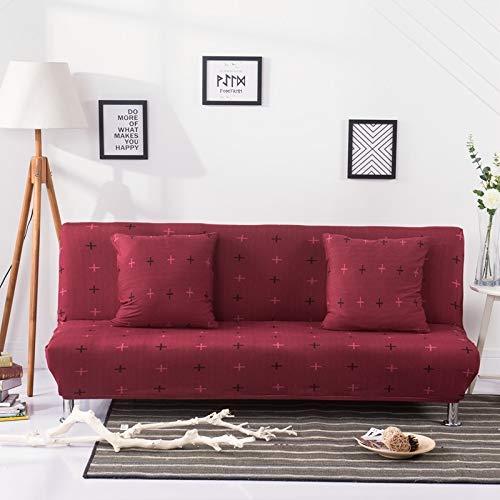 weichuang Funda plegable para sofá cama sin reposabrazos de elastano, elástica, sin brazos, color 1, especificación: M 160 185 cm