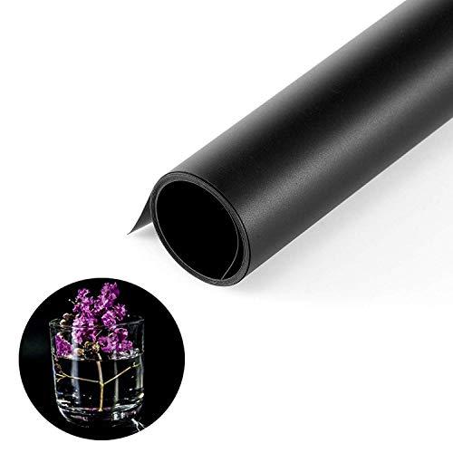 Selens Negro 40x66.5cm PVC Telón de Fondo Liso y Mate Background Backdrop para Fotografía Estudio Fotográfico