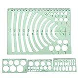 Regla de arquitectura, herramienta de pintura DIY, regla((No. 2) 4-piece set)