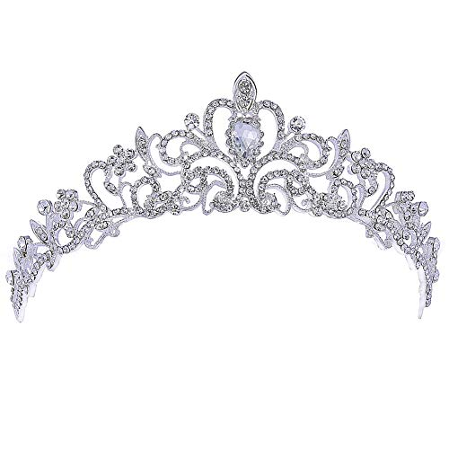 Crown for Girls - Tiaras and Crowns for Little Girls - Princess Crowns and Tiaras for Little Girls, Party, Birthday, Prom, banquet (Silver Crown)