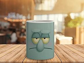 PrintBharat Spongebob Squidward Cartoon Ceramic Mug, 350 Ml
