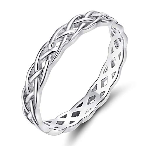 Titaniumcentral Damen Ringe 925er Silber Keltisch Knoten Verlobungsringe Trauringe