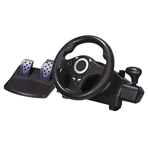 SZKQN Volant de contrôleur de Jeu analogique pour Xbox PS4, pédale linéaire, transmetteur de Vibrations intégré, Jeu de Course multiplateforme 7 en 1