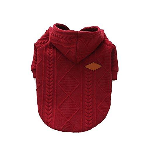 Meiwash Zipper Hooded Dog Sweater Pet Vêtements Chien Chat Vêtements Mignon Vêtements pour...