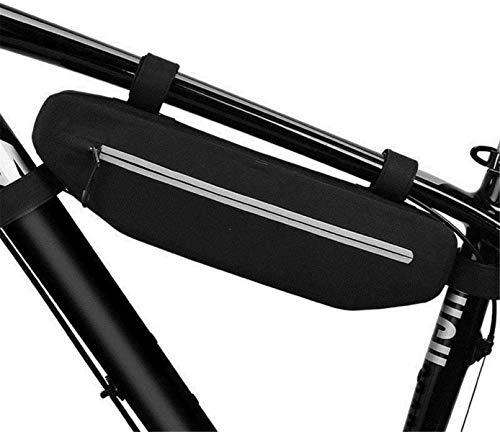 ZSY Bolsas para sillines Bicicleta Sillín Bolsa Impermeable MTB Bike Frente Bolsa Bolsa de Ciclismo Bolsa Bolsa de Bicicleta Negra Bolsa (Color : Black, Size : One Size)