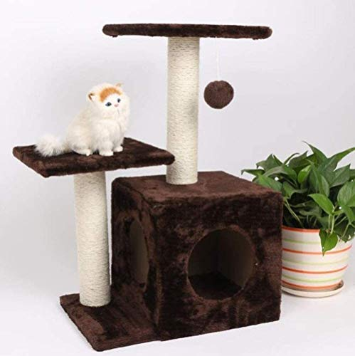 HLZY Cat Tower Popular Cat Toy Cat Trees and Towers Cat Castle Toys, Taupe Grey Extra Big Breed Trees Scratch Post and Adult Towers Furniture Scratcher Activity Centre Pet Furniture (Color : D)