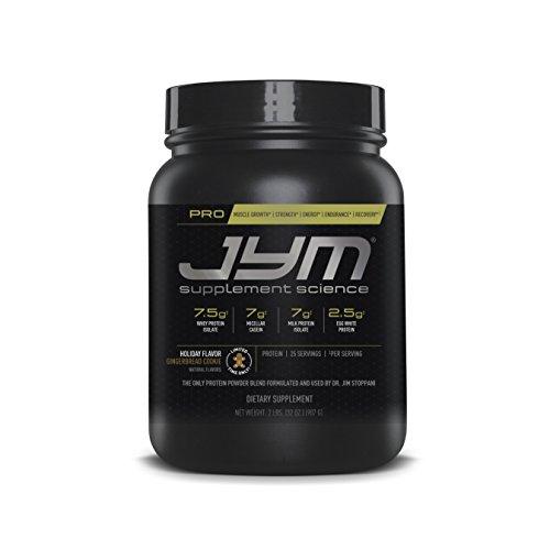 Pro Jym Protein Powder - Egg White, Milk, Whey Protein isolates & Micellar Casein   JYM Supplement Science   Gingerbread Cookie Flavor, 2 Lb