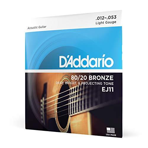 D\'Addario EJ11 Bronze Satz Akustikgitarren-Saiten Light 012\' - 053\'