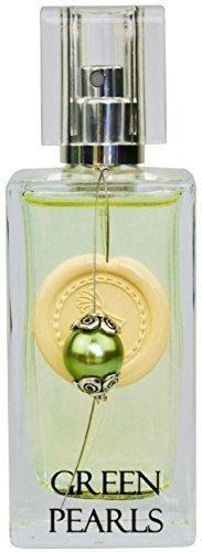 Greendoor Eau de Parfum EdP Green Pearls aus Bio Alkohol, Parfüm mit Vaporisateur 50ml, mit einer Perle & Siegellack, Damenduft, Geschenke Geburtstag Geburtstags-Geschenk Naturkosmetik Weihnachten