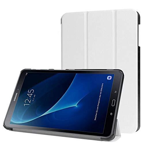 Schutzhülle für Samsung Galaxy Tab A 10.1 SM-T580 T585 Zoll Smart Slim Hülle Book Cover Stand Flip T580N T585N (Weiß) NEU