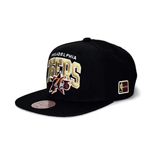 Mitchell & Ness Philadelphia 76ers HUD127 Black Team Arch Snapback Cap HWC NBA
