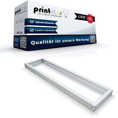 LED Panel Rahmen 60 x 30cm Deckeneinbaurahmen Deckenmontage Aufputz Weißerrahmen - Office Pro Serie