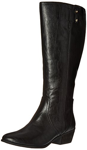 Dr. Scholl's Shoes womens Brilliance Wide Calf Riding Boot, Black, 10 US