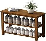 Ranura de calzado ajustable Organizador de zapatos Rack de zapatos 3 niveles de zapatos de bambú Estilo moderno simple Home Zapato Soporte Puerta Multifunción Zapatos Mueble Mueble Almacenamiento Orga