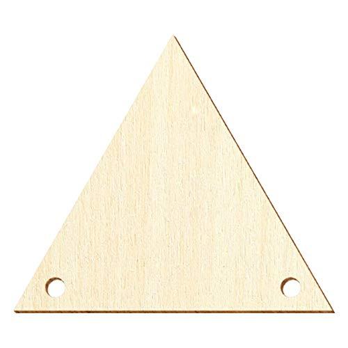 Banderines de madera V1 – Decoración para manualidades 5 – 50 cm, 50 unidades, ancho 40 cm