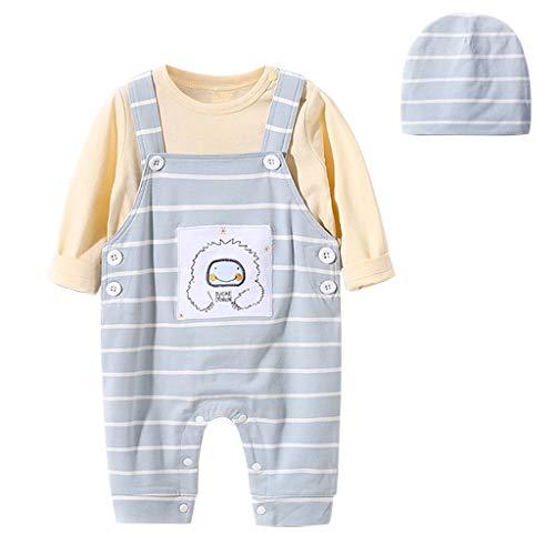 Baby Kleding Set 3 STKS Lange Mouwen T-Shirt + Dungaree + Hoed Baby Katoen Tops Bib Broek 3-36 Maanden