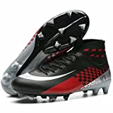 Qzzsmy Men's Cleats Soccer Unisex's Ag Cleats Outdoor Training Ag CD1808-M1-40