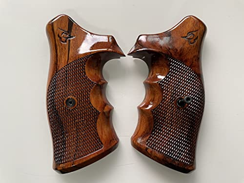 Feelsogood New Hardwood Grip Compatible with Taurus Tracker/Judge 17 44 415 425 450 617 627 692 Checkered Engraved #Trcker01