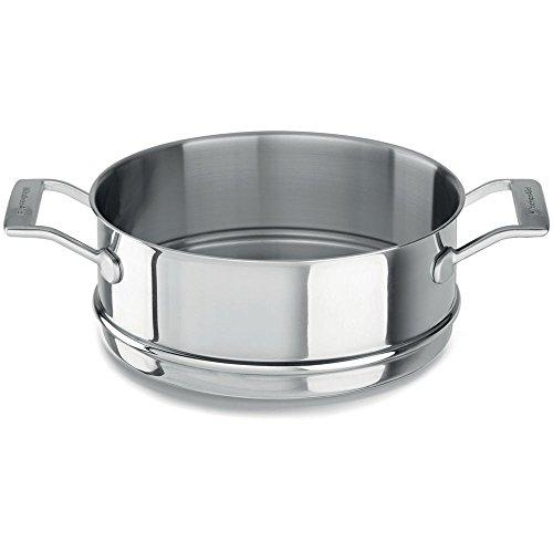 Kitchenaid stoominzet voor pan, roestvrij staal, diameter 24 cm, zilver, 24 cm