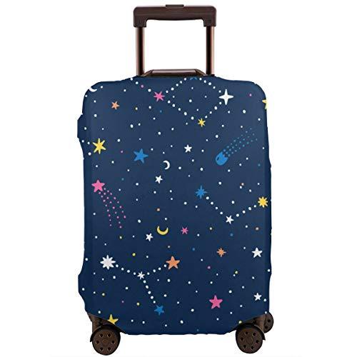 Funda Protectora para Maleta Dibujado a Mano Night Sky Doodle Pattern con Space Stars Planetas Cometas Travel Suitcase Protector XL
