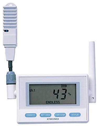 チノー CHINO CHINO 監視機能付き無線ロガー 送信器 温湿度センサ AC電源・直付け MD8102-N00 1台 449-4971