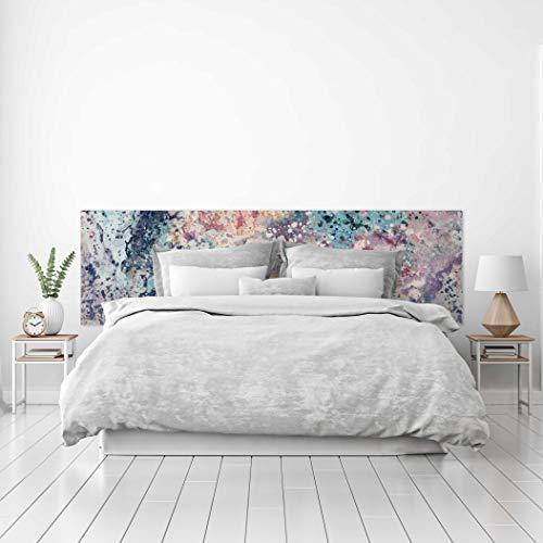 MEGADECOR Cabecero Cama PVC Decorativo Económico Diseño Abstracto Marmol Multicolor con Vetas Varias Medidas (150 cm x 60 cm)