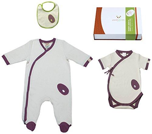 Pandi Panda 1302–008–03 Mic Mac Tapis D'éveil Pantalon avec chaussons intégrés, taille 50/56, 0–3 mois