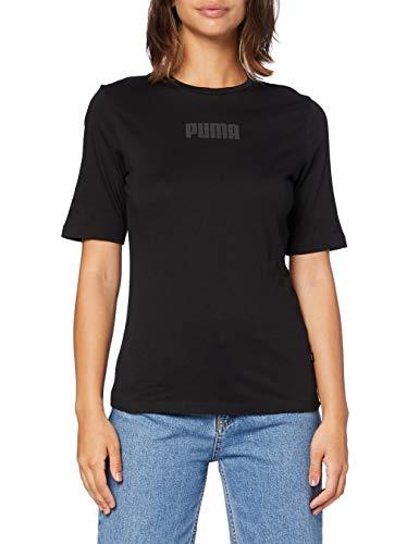 PUMA Damen Modern Basics Tee T-Shirt, Black, S