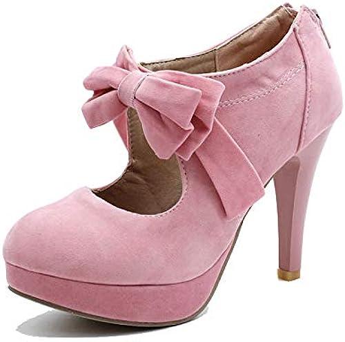 HommesGLTX 2019 Grande Taille 30-48 Mode Escarpins Escarpins Chaussures Femmes Printemps été Bowtie Fête De Mariage Femmes Chaussures Femme 5 Rose