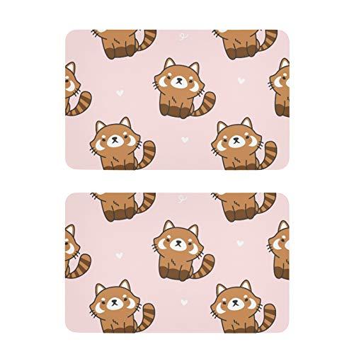 Imanes de nevera con diseño de panda rojo y divertido para nevera, 2 unidades