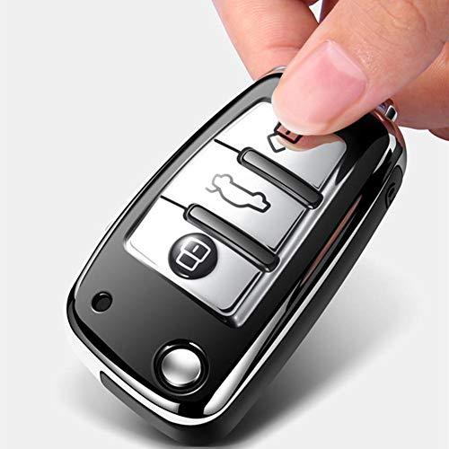MIOAHD Portachiavi per Auto, Copertura Chiave per Auto con Telecomando Intelligente, per Audi a1 a3 a4 a5 a6 a7 a8 Quattro q3 q5 q7 r8 allroad c5 c6 TT s3 s5 s6 s4 rs5 rs6 2003-2015