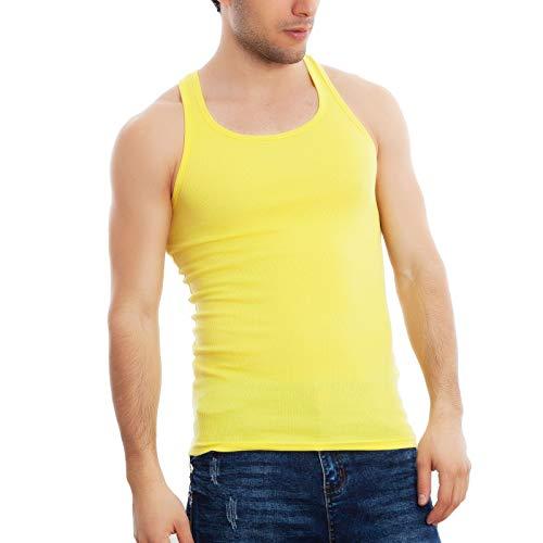 Toocool – Camiseta de tirantes para hombre Costine Vogatore Aderente Gimnasio Fitness Nueva HY-2105 amarillo M