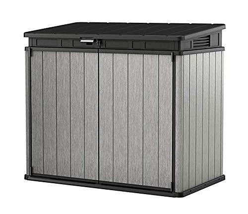 Koll Living Garden Mülltonnenboxen von 848- bis 2020 Liter wählbar - aus Wetter- & UV-festem Kunststoff - mit Gasdruckfedern und Belüftungsystem (Typ 6-1150 Liter - grau)