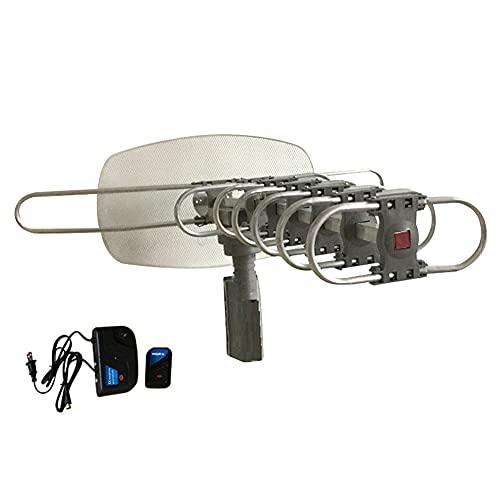 SKLLA Mini Compacto Canal Completo Rotación De 360 ° Analógico Digital TV Al Aire Libre Aéreo Control Remoto por Infrarrojos Antena De Loft De Alta Ganancia para El Hogar Kit De TDT HD