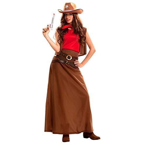 My Other Me Me-200886 Disfraz de vaquera para mujer, M-L (Viving Costumes 200886)