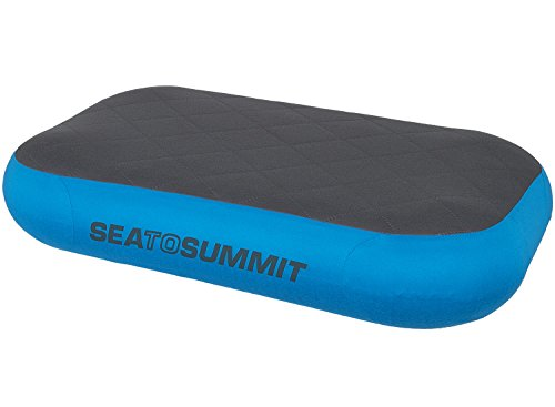 Sea to Summit Aeros Premium Pillow Deluxe XL Almohada Montañismo, Alpinismo y Trekking, Adultos Unisex, Azul (Blue)