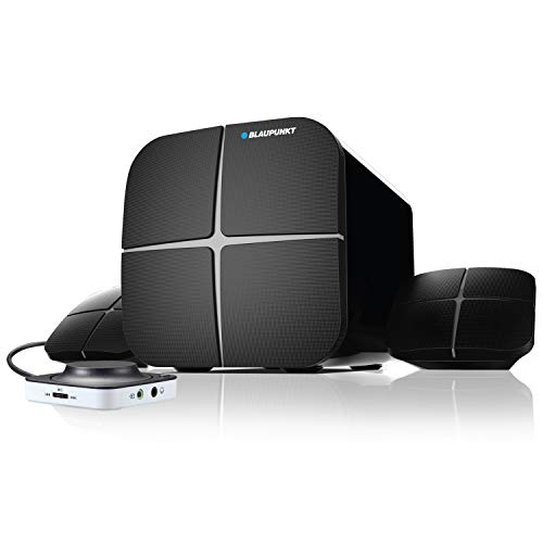 Blaupunkt SP212 Bluetooth Home Audio Multimedia 2.1 Speaker (Black)