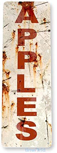 Tinworld Tin Sign Rusty Apples Rustic Kitchen Cottage Cabin Farm Garden Metal Sign Decor B842