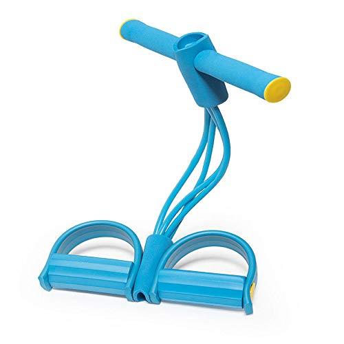 K-DD Pedal Elastic Pull Rope Mit Griff, Fitnessgeräten, Superleichten 4-Rohr-Pedal-Übungsbändern Zum Dehnen des Schlankheitstrainings, Zum Bodybuilding-Expander-Bauch-Training,Blau