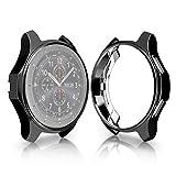 HOXULEON TPU-beschichtetes, stoßfestes Gehäuse for Samsung Gear S3 Frontier Smartwatch 42 mm (schwarz) (Farbe : Black)