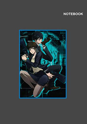Psycho-Pass notebook For Kids: Lined Pages, 110 Pages, (8.27 x 11.69 inches) A4, Poster Psycho-Pass Gey Notebook Cover.