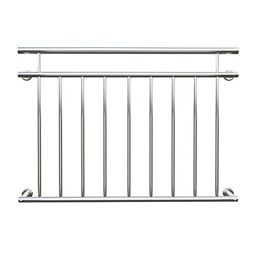 Preisvergleich Produktbild SAILUN® 90 x 128 cm Geländer Balkon Geländer Balkongeländer Stabgeländer Edelstahl Französischer