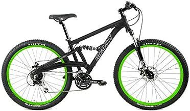 Gravity FSX 27.5 LTD 650b Dual Suspension Mountain Bike Alivio 24 Speed (Black with Green Wheels, 21 inch = Large fits 6'2