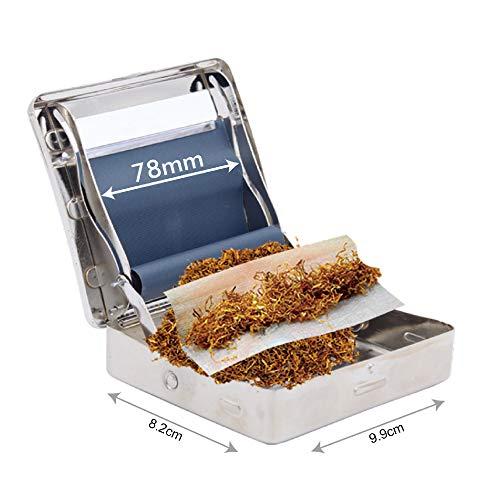 Máquina enrolladora Cajetillas Rolladora metálica automática para tabaco en papel de liar de 1,1/4 78mm