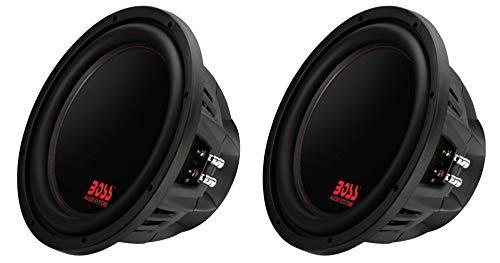 Boss Audio 12-Inch 2600-Watt Car Power Subwoofer DVC Power Sub (2 Pack) | P129DC